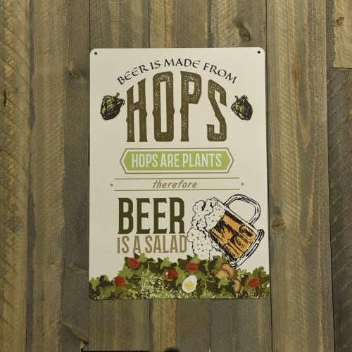 Beer is a Salad Novelty Sign (10