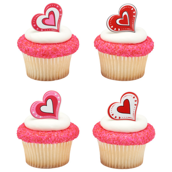 Love is in the Air Cupcake Rings