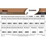 Stainless Steel Metric Button-Head Socket Cap Screws Assortment (M3-0.50 thru M6-1.00 Thread)