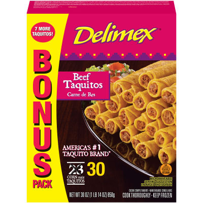 Delimex Beef Taquitos 30 count Bag