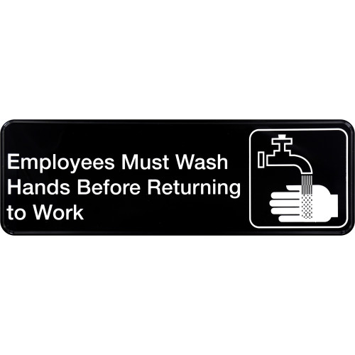 Employees Must Wash Hands Sign 3