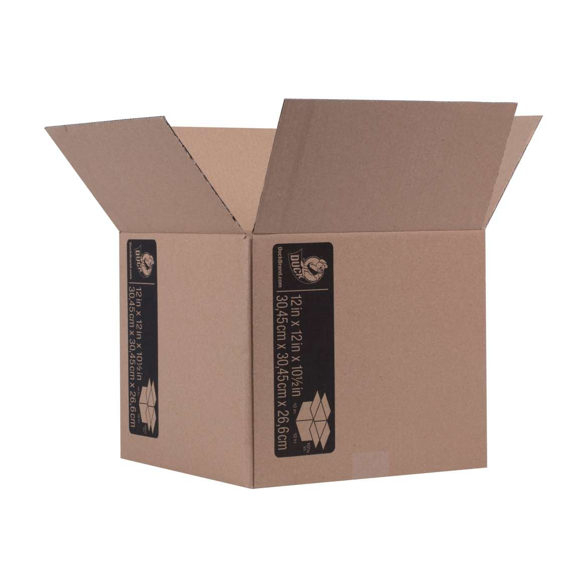 Duck® Brand Kraft Box - Brown, 12 in. x 12 in. x 10.5 in. Image