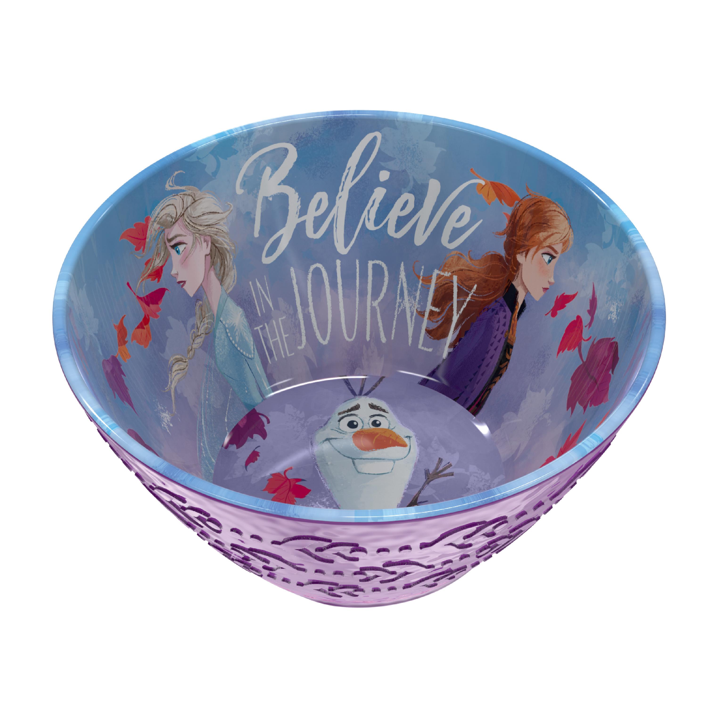 Disney Frozen 2 Movie Kids Plate and Bowl Set, Anna, Elsa & Olaf, 4-piece set slideshow image 3
