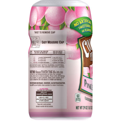Country Time Sugar-Sweetened Pink Lemonade Powdered Soft Drink 29 oz Canister