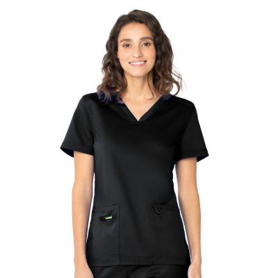Landau ProFlex Two-Pocket Scrub Top for Women: Modern Tailored Fit, V-Neck Medical Scrub Top 4168-