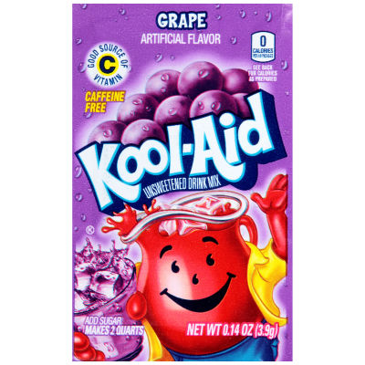 Kool-Aid Grape Unsweetened Drink Mix, 0.14 oz Envelope