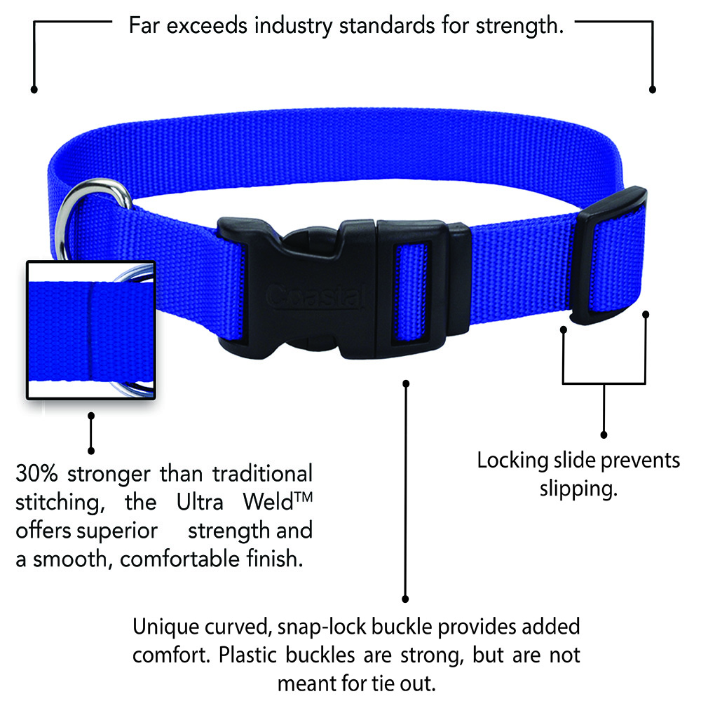 Coastal® Adjustable Dog Collar with Plastic Buckle