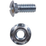 Zinc Plated Ribneck Bolts/Nuts