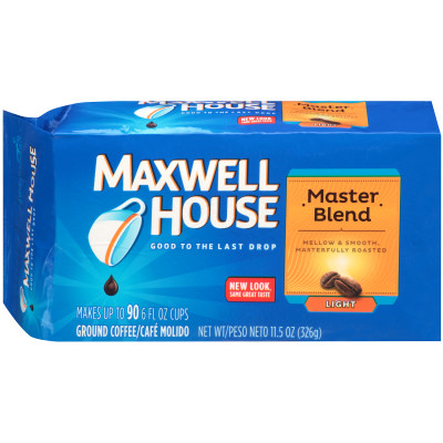 Maxwell House Master Blend Ground Coffee 11.5 oz Brick