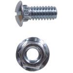 Zinc Plated Ribneck Bolts/Nuts