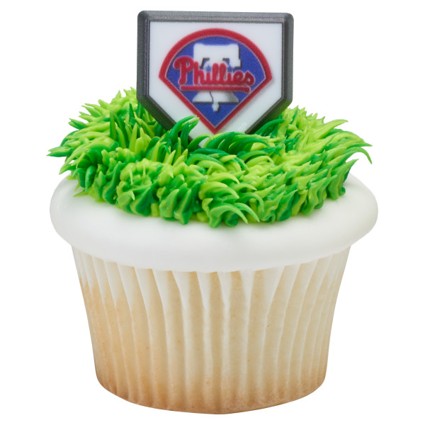 MLB® Home Plate Team Logo Cupcake Rings