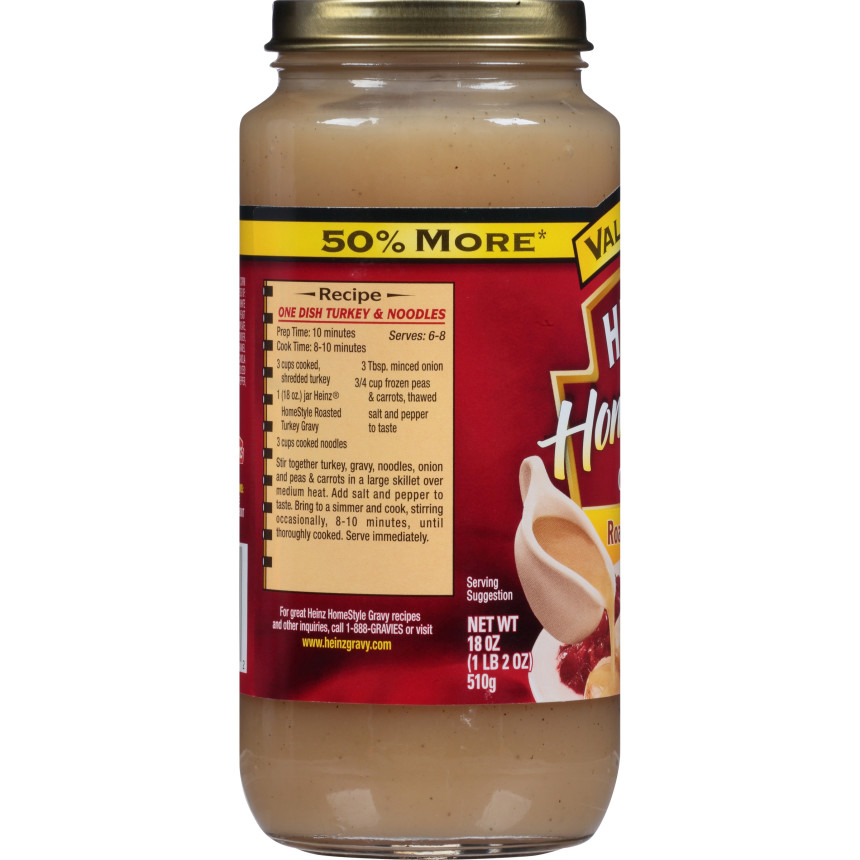 Heinz Home-Style Roasted Turkey Gravy, 18 oz Jar