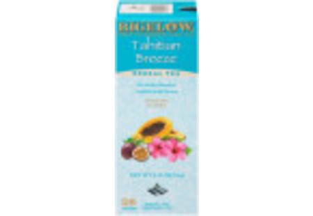 Front of Bigelow Tahitian Breeze Herbal Tea box