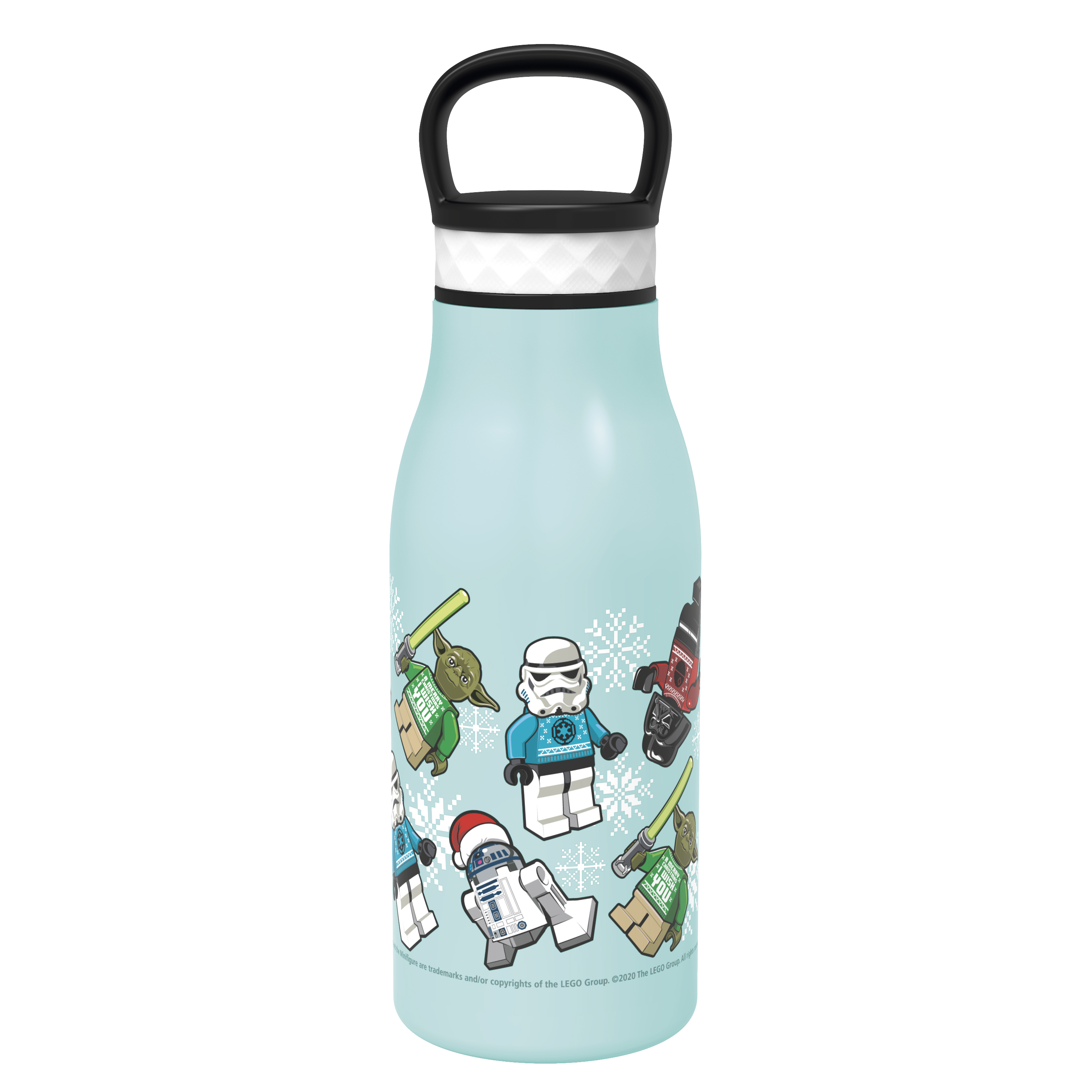 Lego Star Wars 12 ounce Stainless Steel Vacuum Insulated Water Bottle, Darth Vader, Stormtroopers and Yoda slideshow image 1