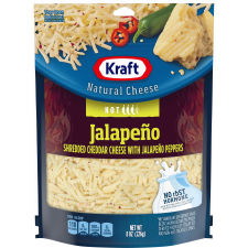 Kraft Jalapeno Cheddar Shredded Natural Cheese 8 oz Pouch