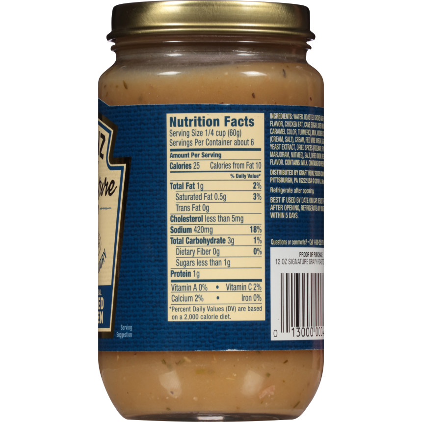 Heinz Signature Roasted Chicken Gravy, 12 oz Jar