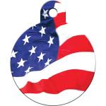 USA Flag Large Circle Quick-Tag