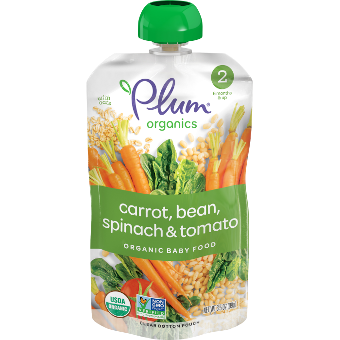 Carrots, Beans, Spinach & Tomato Baby Food