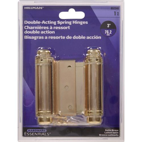 Hardware Essentials Satin Brass Double Action Spring Hinge 3