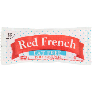 PPI Single Serve Fat Free Red French Dressing, 12 gr. Pouches (Pack of 200) image