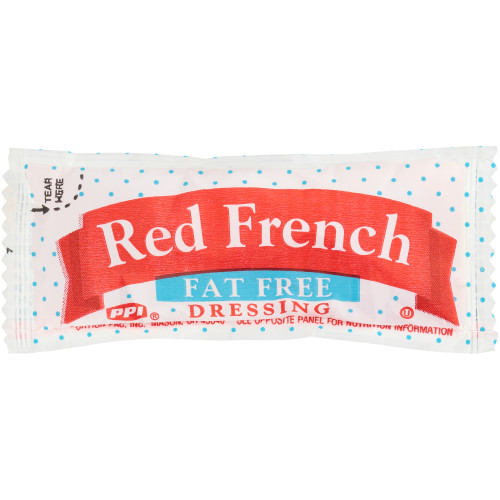 PPI Single Serve Fat Free Red French Dressing, 12 gr. Pouches (Pack of 200)