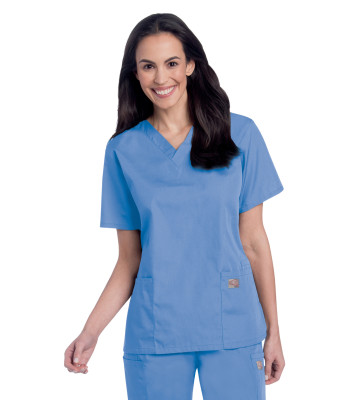 Landau Scrub Zone 3 Pocket Scrub Top for Women: Classic Relaxed Fit, V-Neck, Durable Medical 70221-