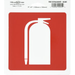 "Adhesive Fire Extinguisher Sign (6"" x 6"")"