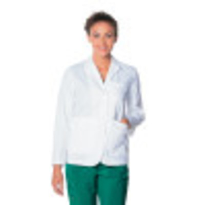 Landau 5 Pocket Lab Coat for Women - Classic Relaxed Fit, 2 Button, Consultation Length Lab Coat 3230-Landau