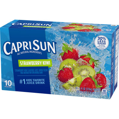 Capri Sun Strawberry Kiwi Flavored Juice Drink Blend 10 - 6 fl oz Pouches