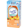 Crystal Light On-The-Go Peach Mango Powdered Drink Mix with Caffeine, 10 - 0.07 oz Packets