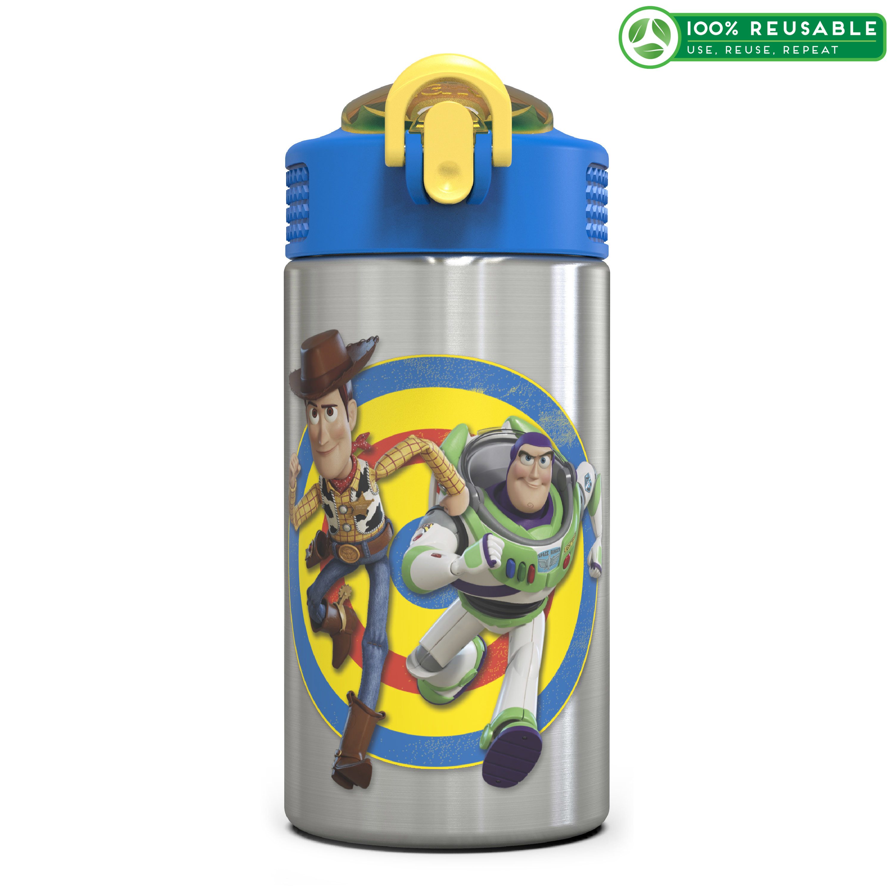 Toy Story 4 15.5 ounce Water Bottle, Buzz & Woody slideshow image 1