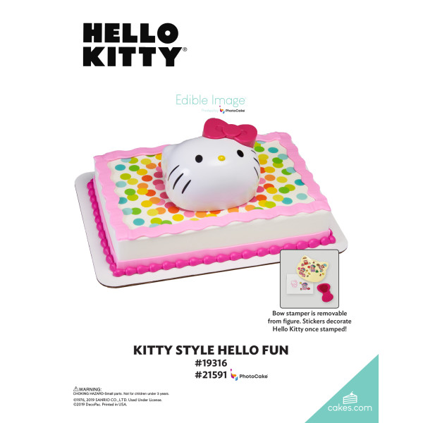 Hello Kitty® Kitty Style DecoSet® The Magic of Cakes® Page