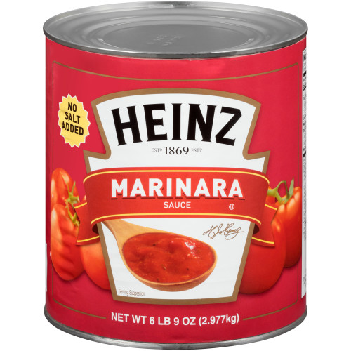 BELL ORTO No Salt Added Marinara Sauce, 105 oz. Can (Pack of 6)