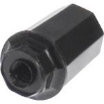 Black Plastic Turn Knob (#4-36 Thread)
