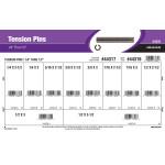 """Tension Pins Assortment (1/4"""" thru 1/2"""" Diameter)"""