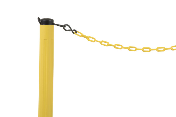 ChainBoss Stanchion - Yellow Filled with Yellow Chain 11