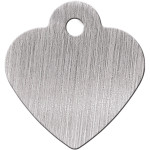 Brushed Chrome Small Heart Quick-Tag