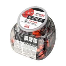 Radians Resistor® 32 Disposable Foam Earplugs - Jar of 100 Uncorded