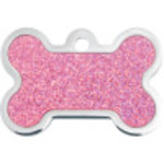 Pink Holo Insert Large Bone Quick-Tag