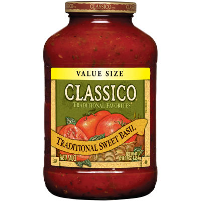 Classico Traditional Sweet Basil Pasta Sauce 44 oz Jar