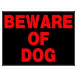 "Beware of Dog Sign (15"" x 19"")"