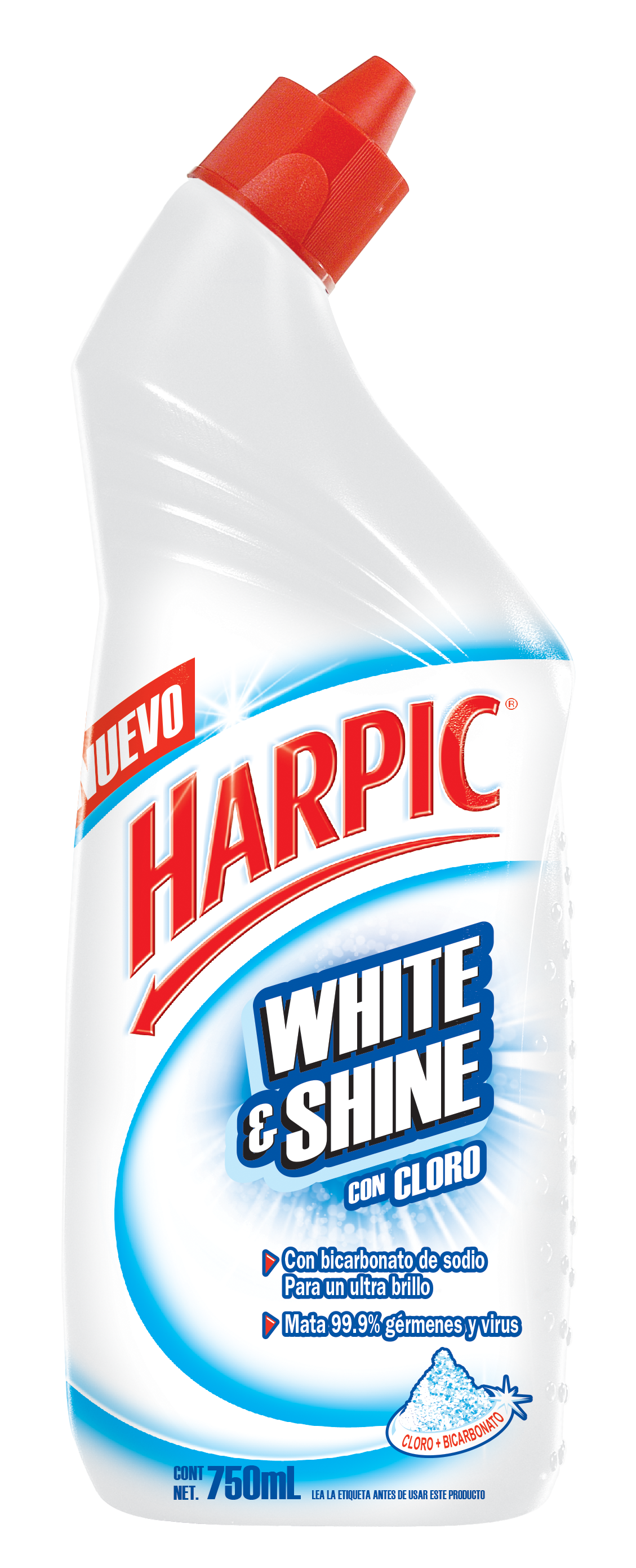 Harpic® White & Shine Con Cloro 750 Ml.