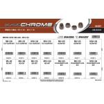 Black Chrome Metric Nuts Assortment (M5-0.80 thru M10-1.50)
