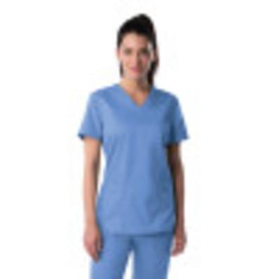 Landau ProFlex Scrub Top for Women: 3 Pocket, Modern Tailored Fit, V-Neck Stretch 4169-Landau