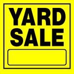 """Yard Sale Sign, 11"""" x 11"""""""