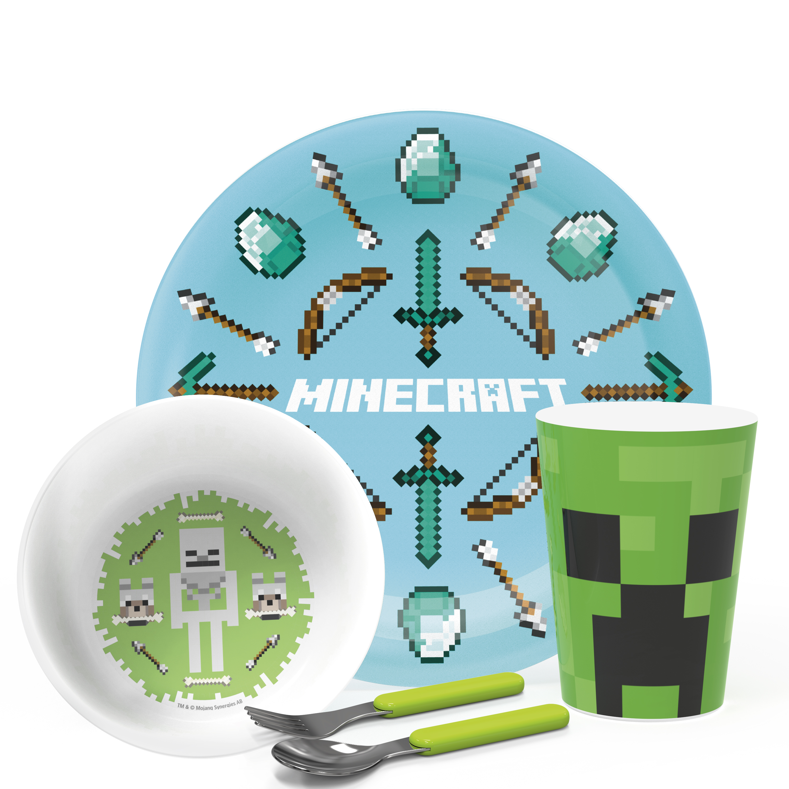 Minecraft , Creeper, Weapons and Tools, 5-piece set slideshow image 1