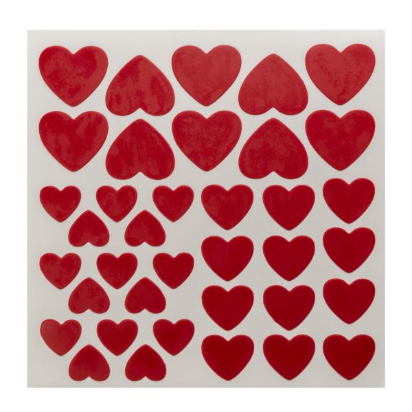 Red, Pink, White Hearts Fondant DecoShapes®