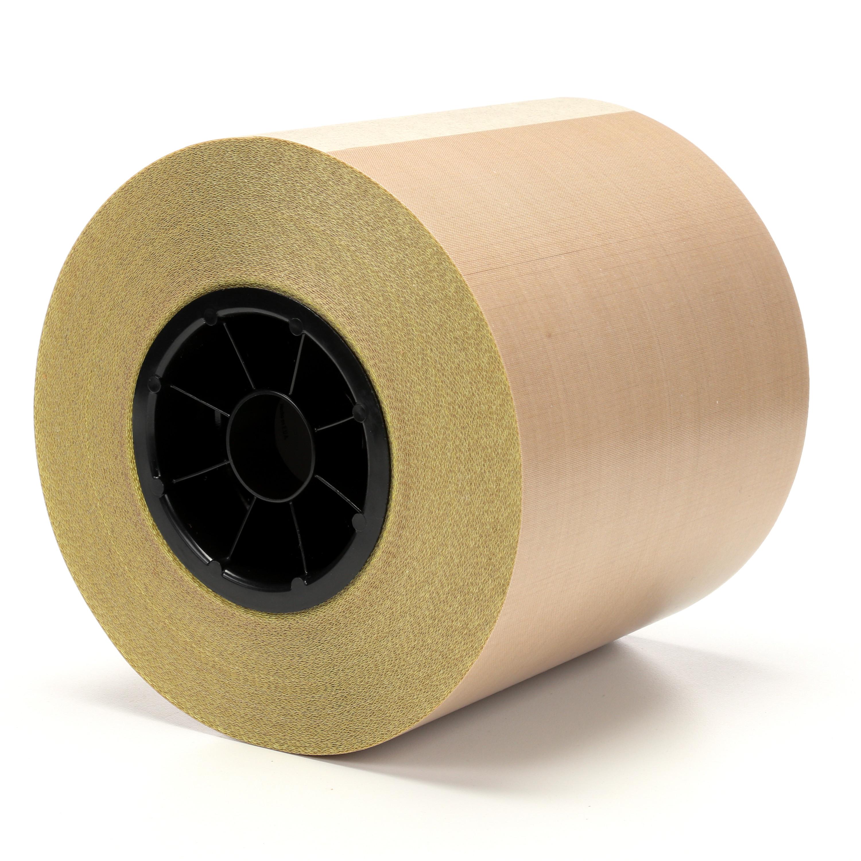3M™ General Purpose PTFE Glass Cloth Tape 5153L, Light Brown, 6 in x 36 yd, 8 mil, 8 rolls per case
