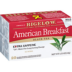 American Breakfast Black Tea - Case of 6 boxes - total of 120 teabags