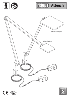Novus Attenzia Task Lighting User Guide